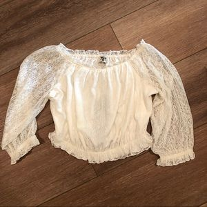 Show me Your Mumu Cropped Lace Top